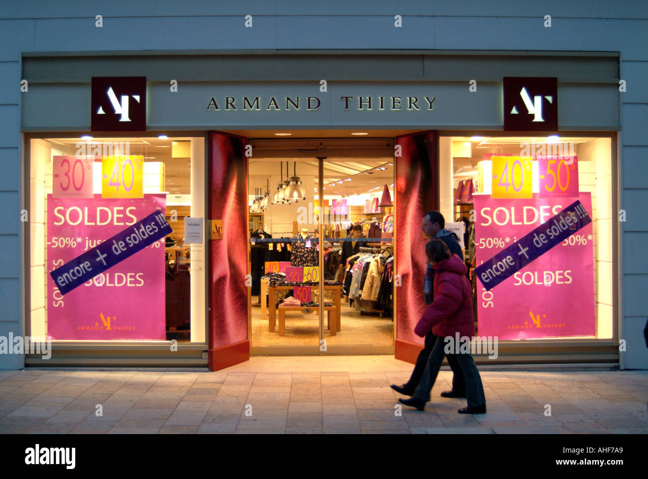 52b846cd7dbef6 France Aube Troyes Armand Thiery shop at sale time Stock Photo ...