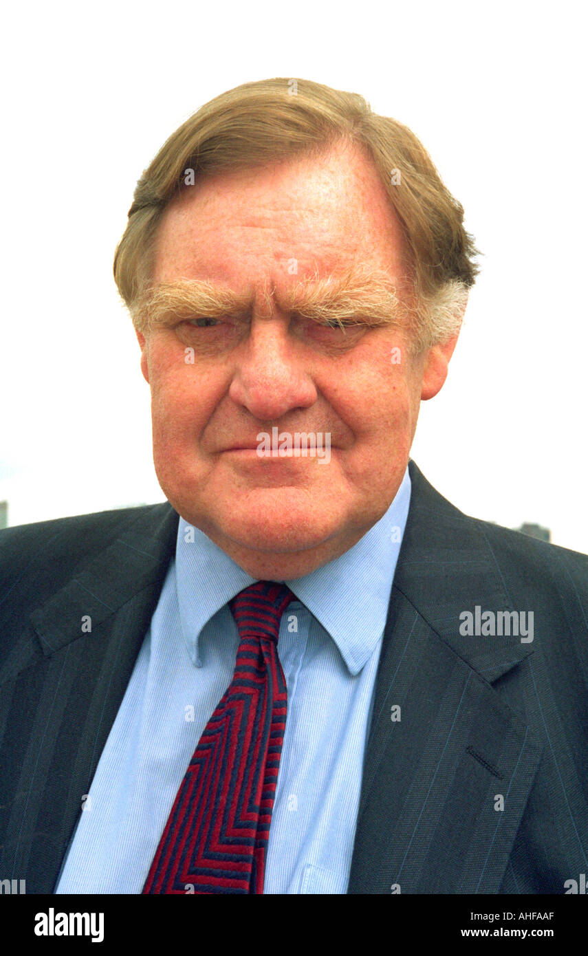 Sir Bernard Ingham Former Press Secretary to Margaret Thatcher Tory PM Portrait Smiling Oct 2001 - Stock Image
