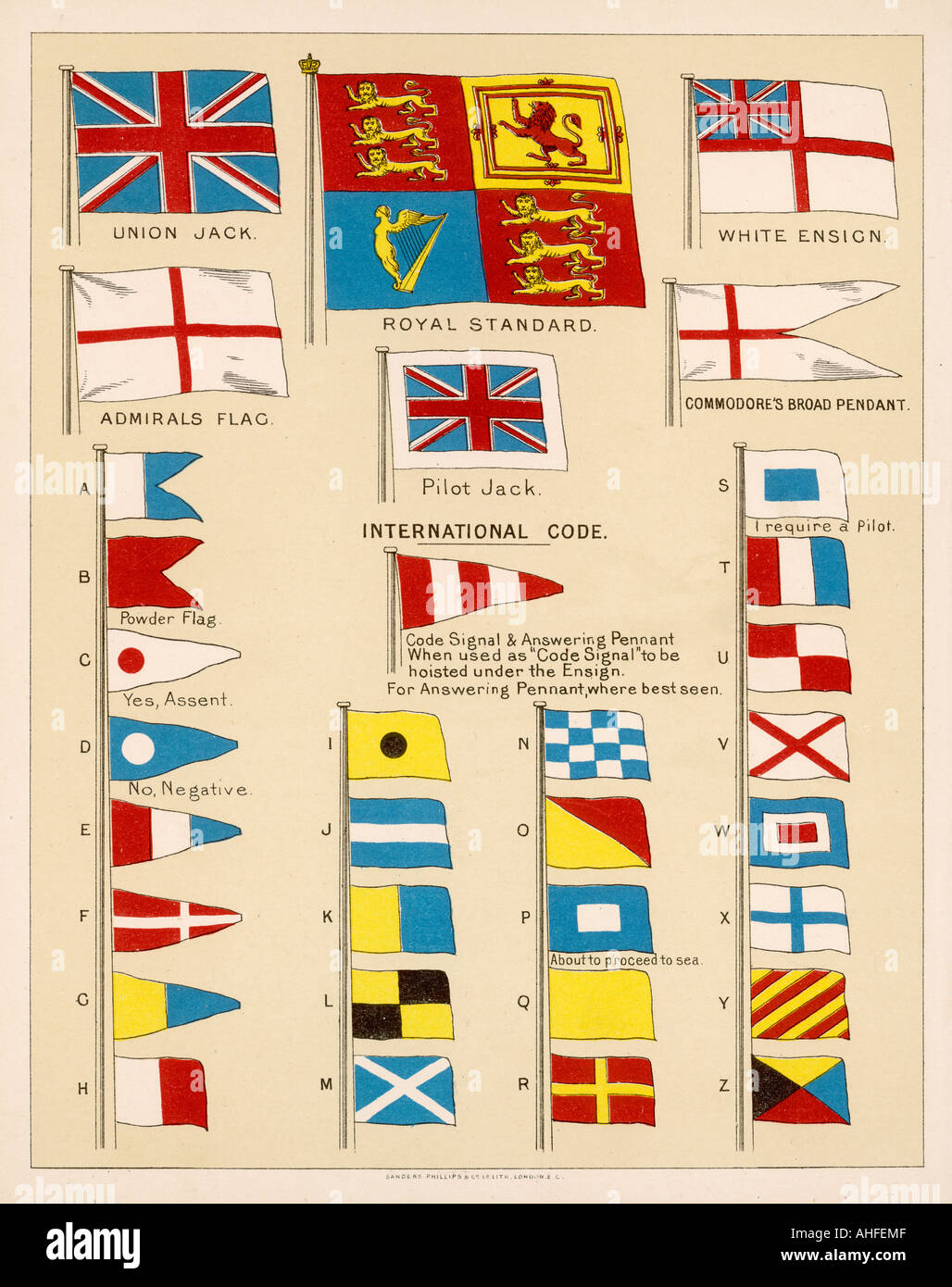 Flags Of Royal Navy - Stock Image