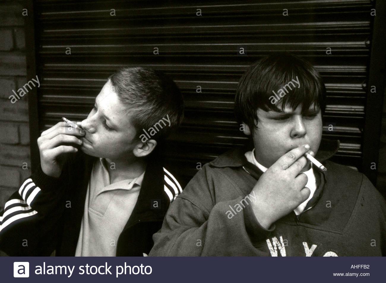 Boys smoking cigarettes uk