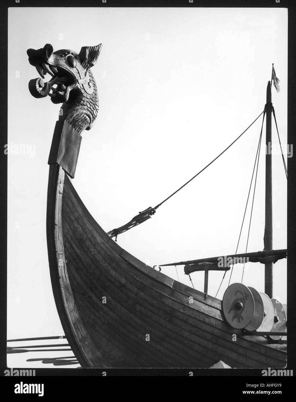 Viking Ship Figurehead - Stock Image
