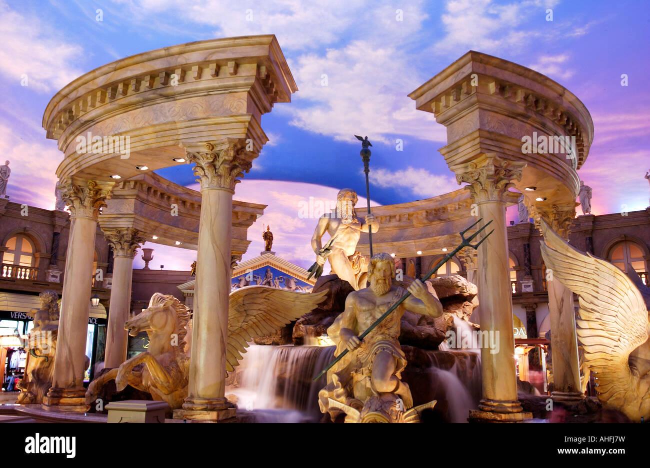 Statues in Forum Shops at Caesars Palace Las Vegas - Stock Image
