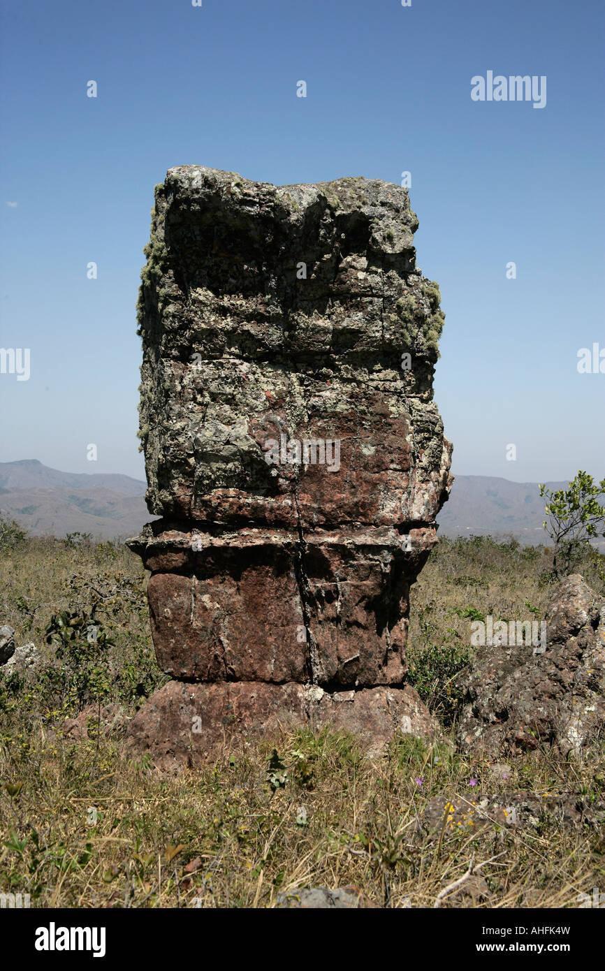 Stone city Parque Nacional Chapada dos Guimarães Brazil - Stock Image