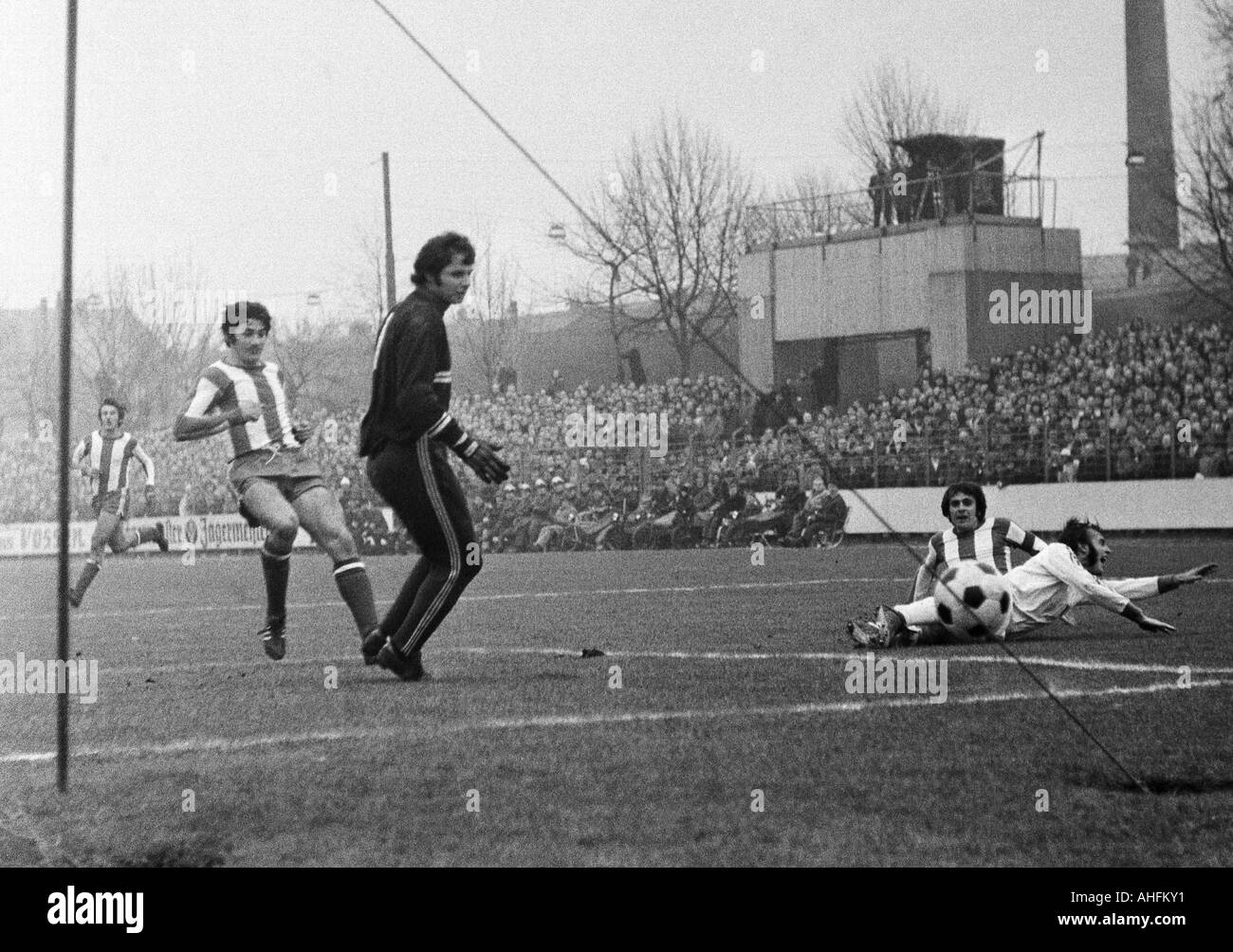 football, Bundesliga, 1971/1972, VfL Bochum versus 1. FC Kaiserslautern 4:2, Stadium at the Castroper Strasse in - Stock Image