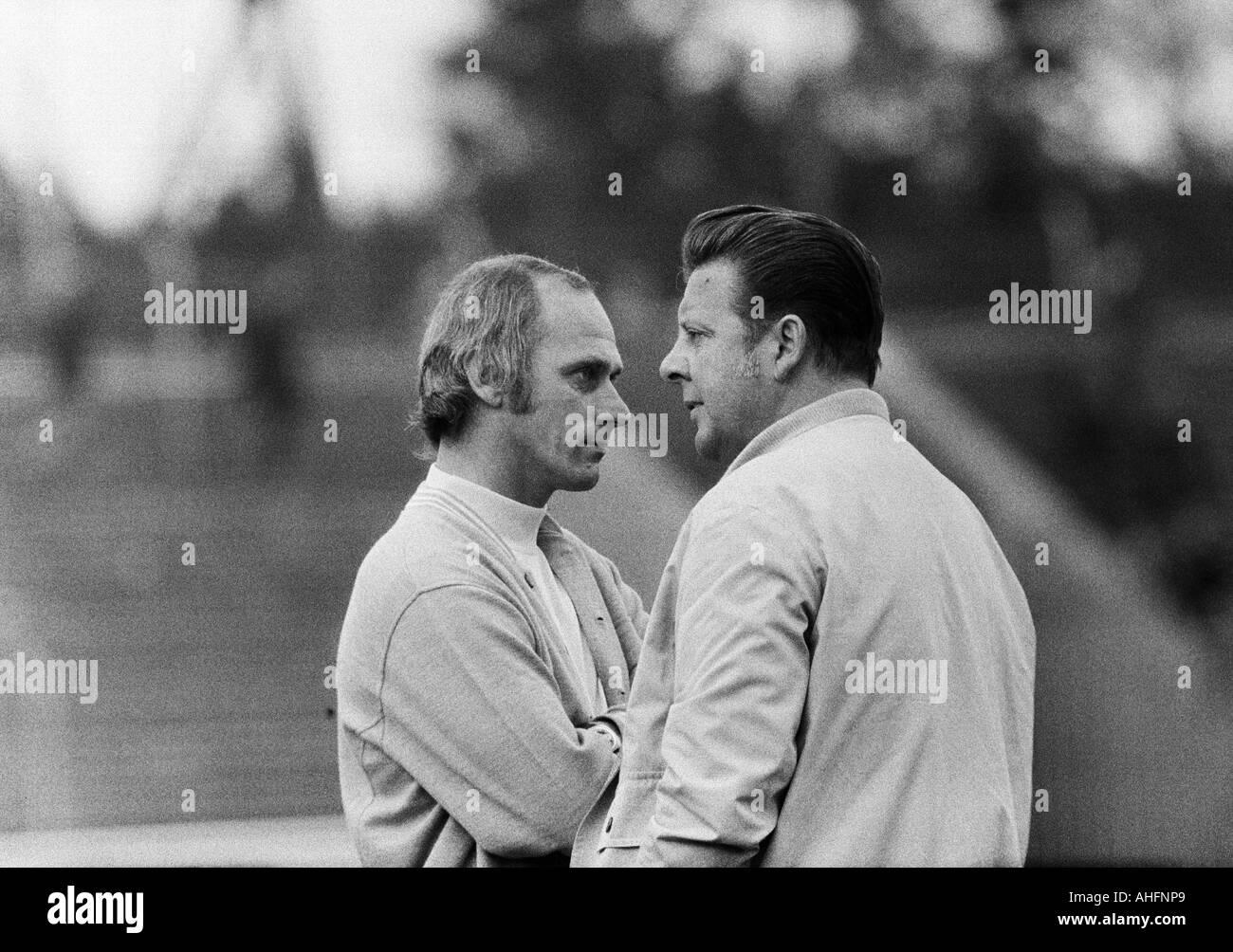 football, Bundesliga, 1972/1973, Niederrhein Stadium in Oberhausen, Rot-Weiss Oberhausen versus FC Bayern Munich Stock Photo