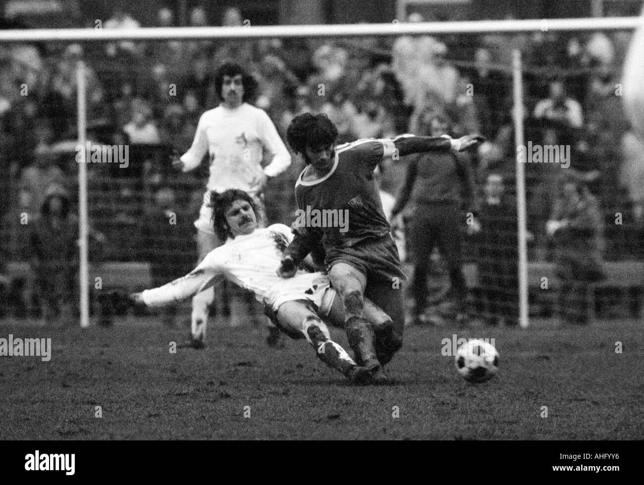 football, Bundesliga, 1973/1974, VfL Bochum versus 1. FC Cologne 0:2, Stadium at the Castroper Strasse in Bochum, Stock Photo