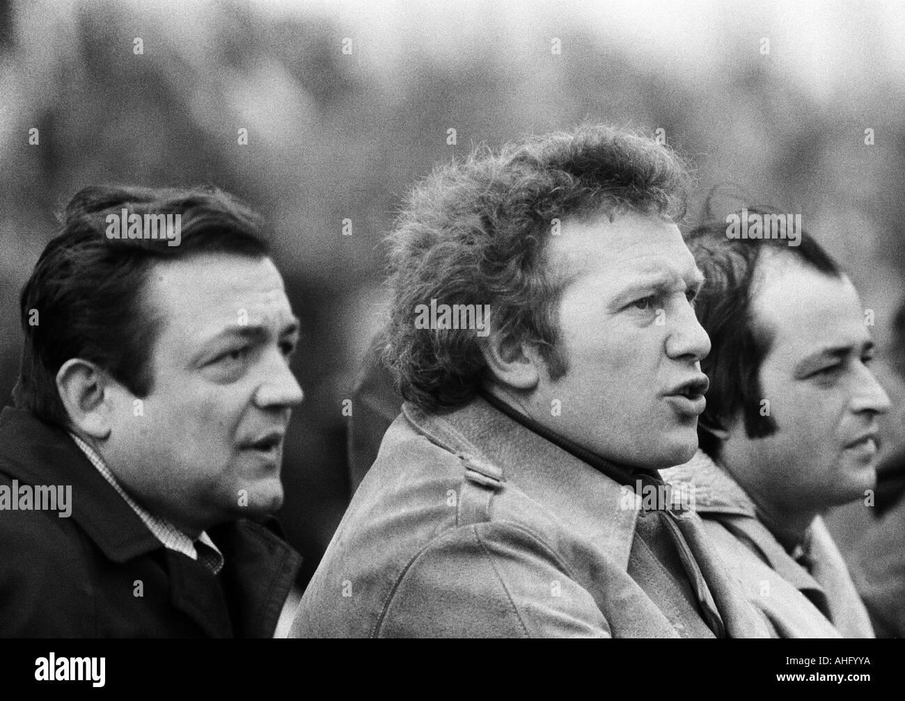 football, Regionalliga West, 1973/1974, Lohrheide Stadium in Bochum-Wattenscheid, SG Wattenscheid 09 versus Sportfreunde Stock Photo