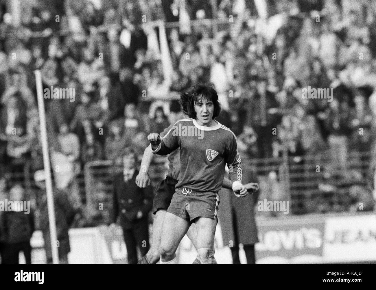 football, Bundesliga, 1973/1974, VfL Bochum versus Hamburger SV 2:0, Stadium at the Castroper Strasse in Bochum, scene of the match, Reinhard Majgl (Bochum) - Stock Image