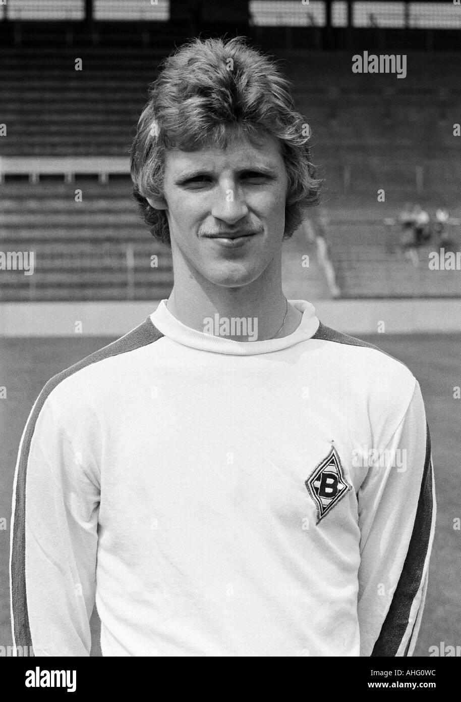 football, Bundesliga, Borussia Moenchengladbach, presentation of the team for the new saison 1975/1976, press photo shooting, portrait of Hans Juergen Offermanns - Stock Image