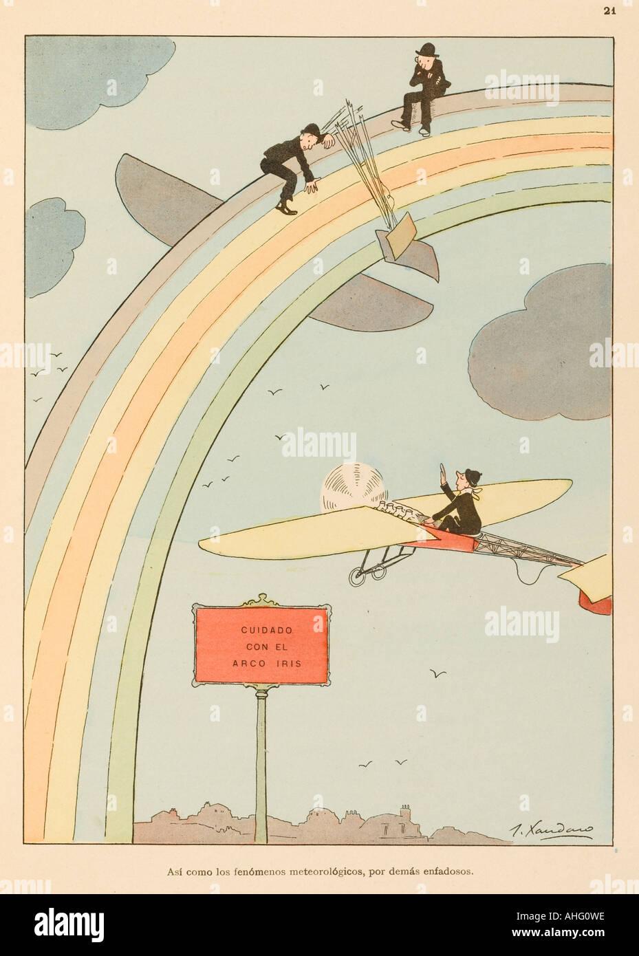 Flying To Rainbow - Stock Image