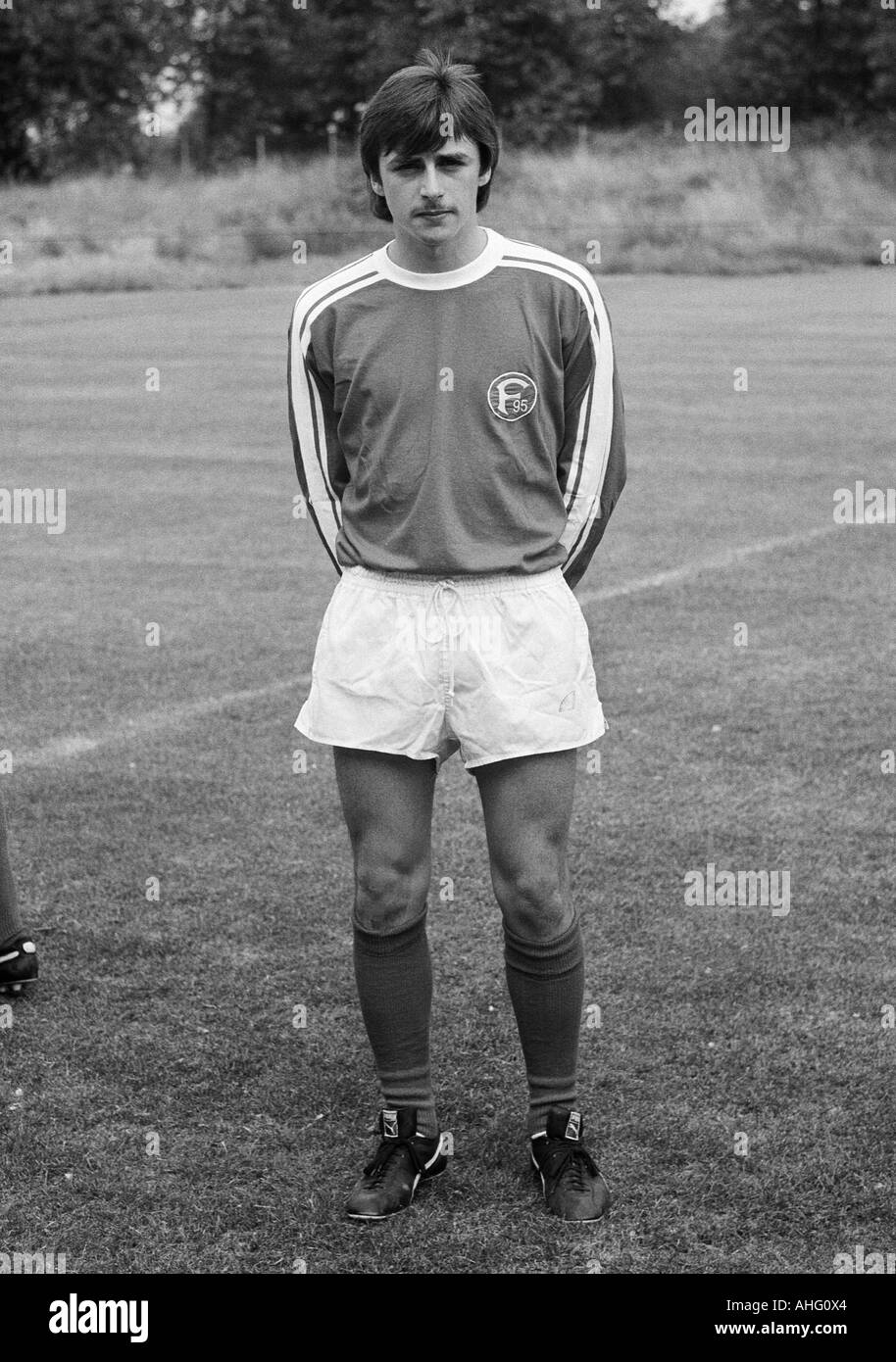 football, Bundesliga, Fortuna Duesseldorf, presentation of the team for the new saison 1975/1976, press photo shooting, portrait of Klaus Allofs - Stock Image