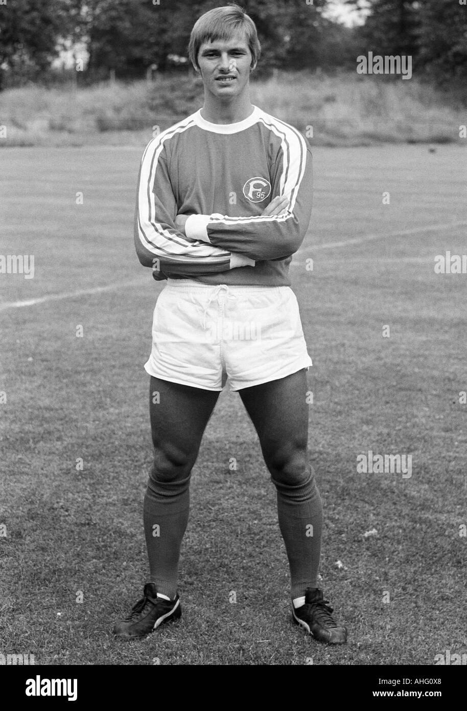 football, Bundesliga, Fortuna Duesseldorf, presentation of the team for the new saison 1975/1976, press photo shooting, portrait of Heiner Baltes - Stock Image