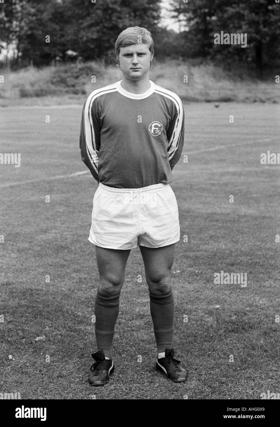 football, Bundesliga, Fortuna Duesseldorf, presentation of the team for the new saison 1975/1976, press photo shooting, Stock Photo