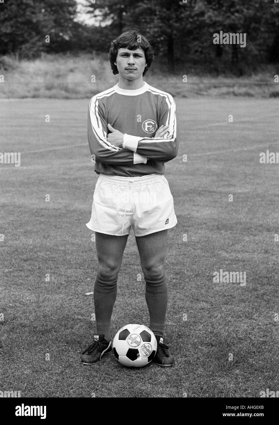football, Bundesliga, Fortuna Duesseldorf, presentation of the team for the new saison 1975/1976, press photo shooting, portrait of Werner Albrecht - Stock Image