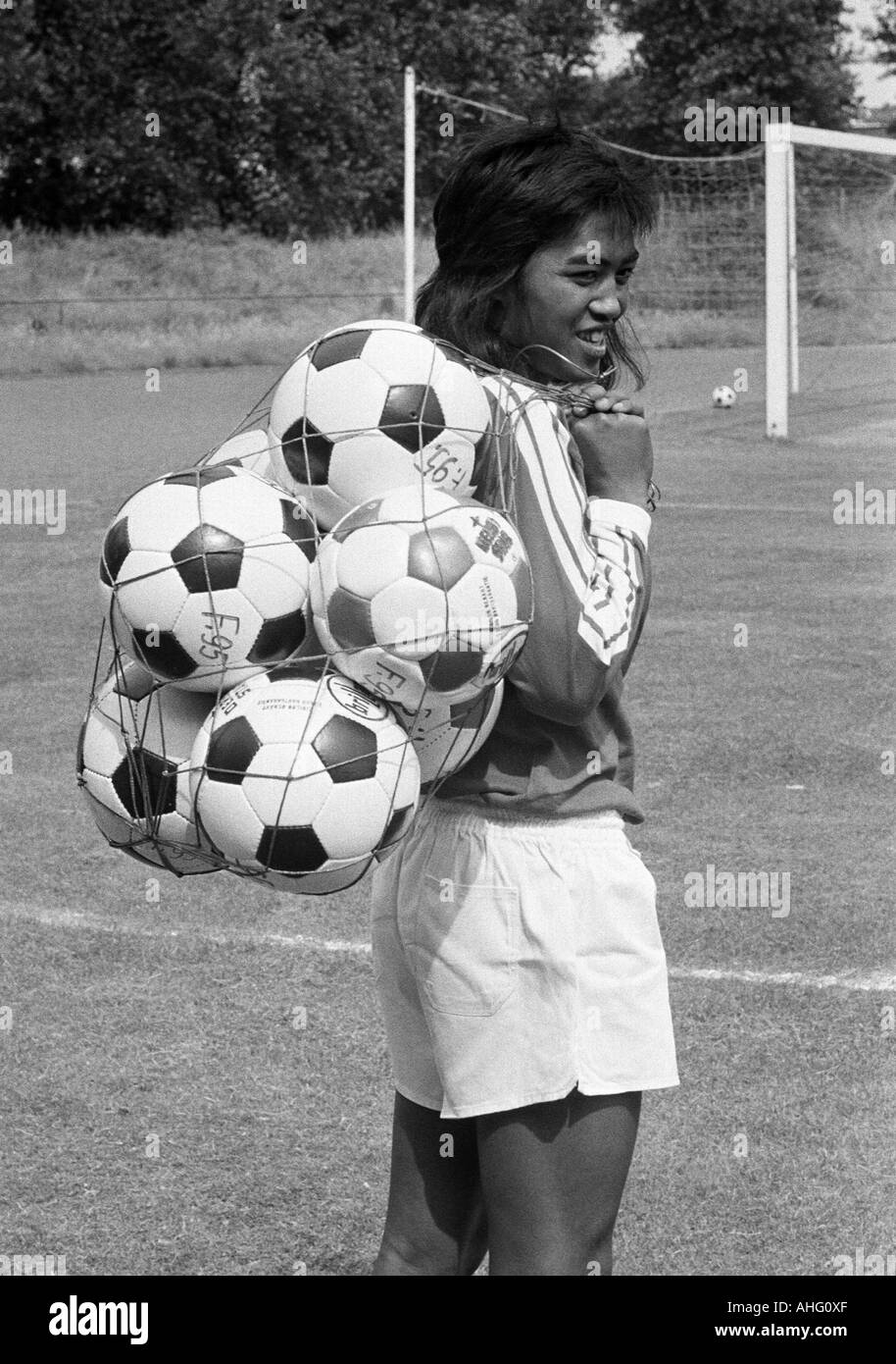 football, Bundesliga, Fortuna Duesseldorf, presentation of the team for the new saison 1975/1976, press photo shooting, portrait of Johannes Lalopua - Stock Image
