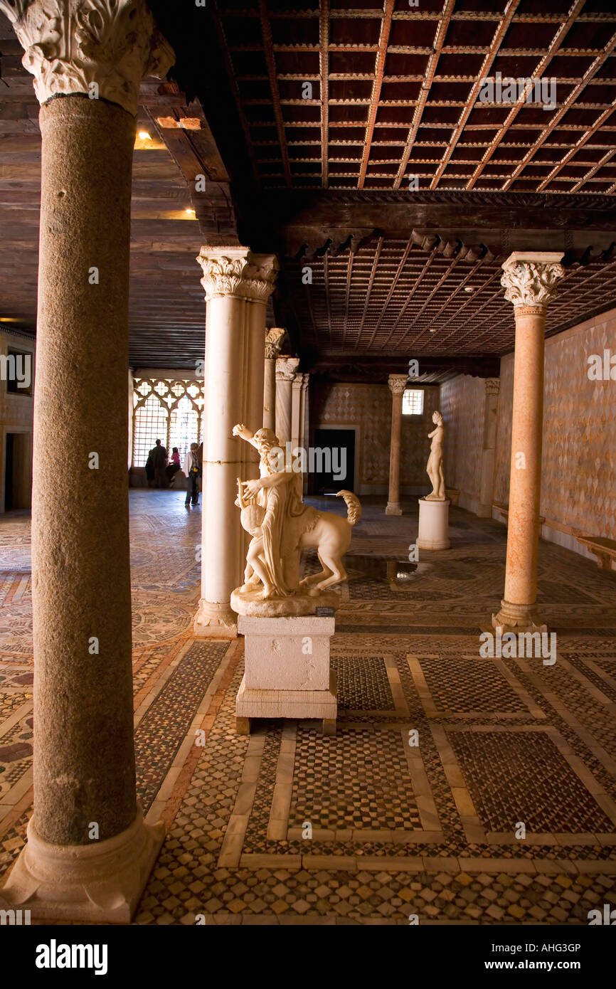 Ca D'Oro ground floor a recessed colonnaded loggia gives access to the entrance hall Venice Veneto Italy Europe - Stock Image