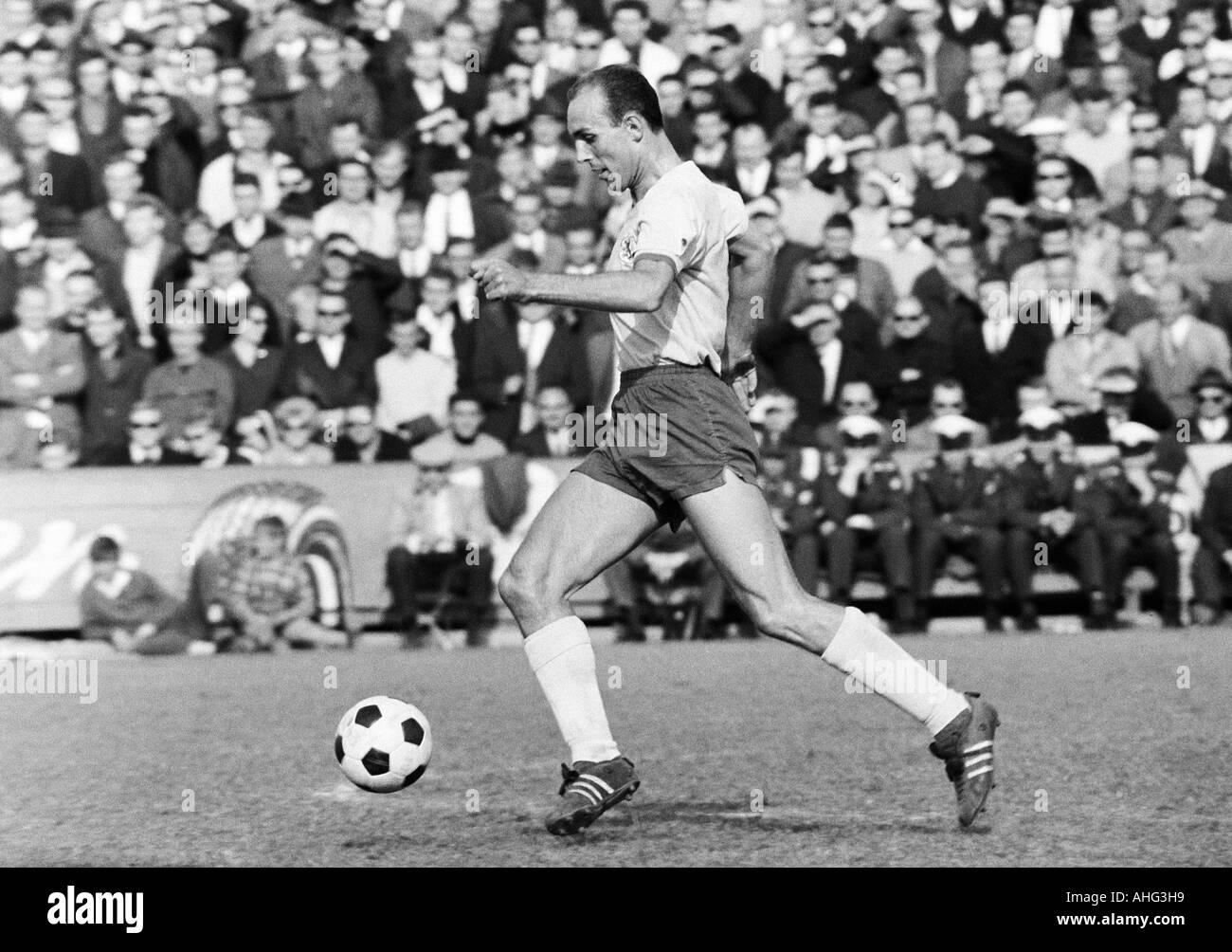 football, Bundesliga, 1966/1967, Stadium at the Hamburger Strasse, Eintracht Brunswick versus Borussia Moenchengladbach Stock Photo