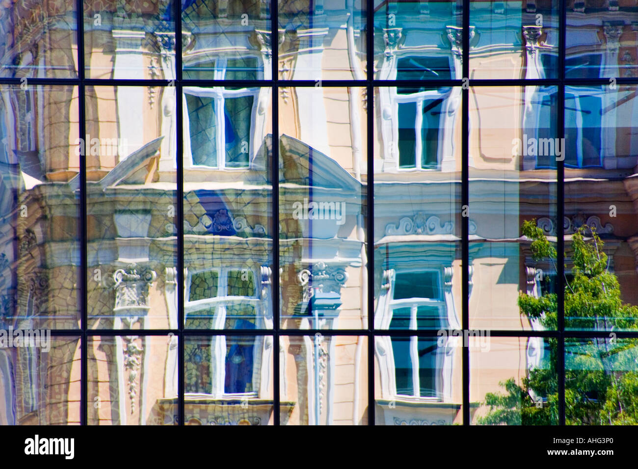 Contrasts in a city - Stock Image