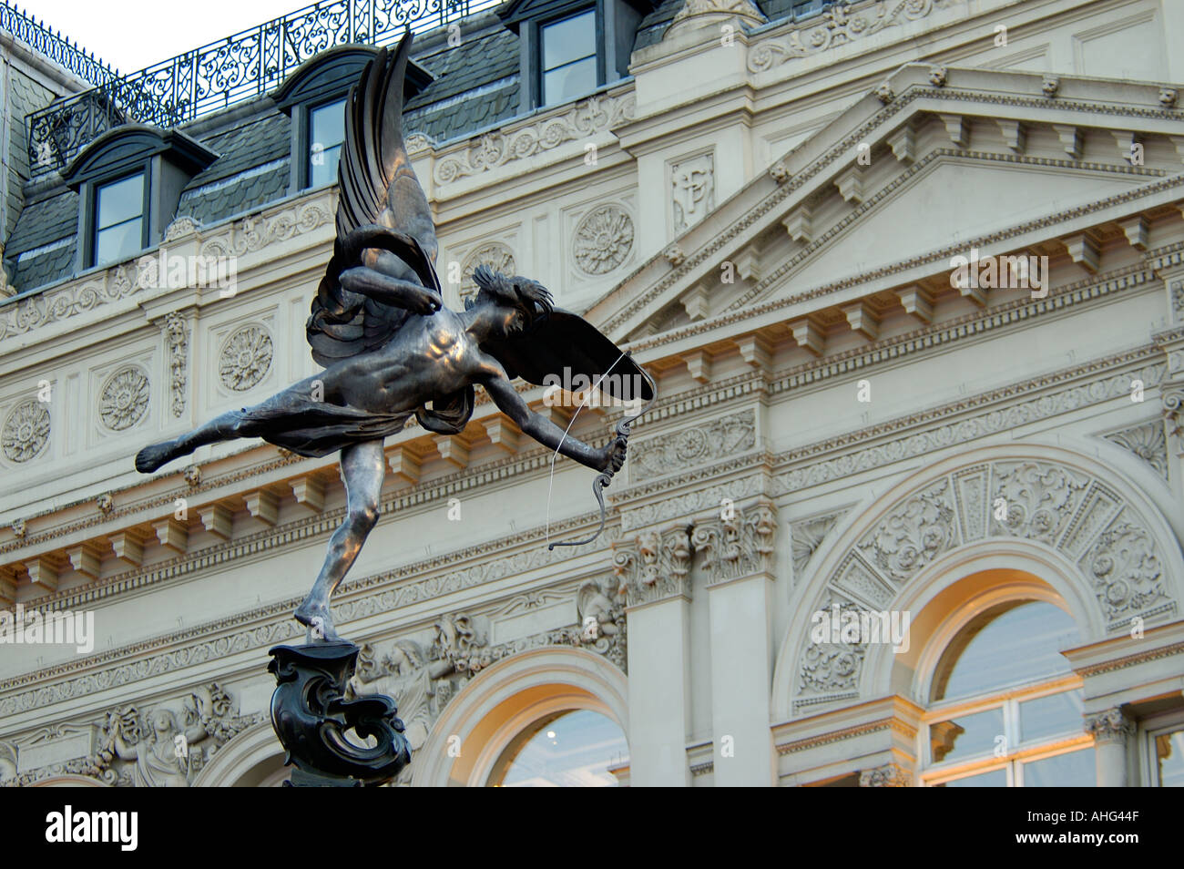 UK London The West End Piccadilly Circus Eros Statue - Stock Image