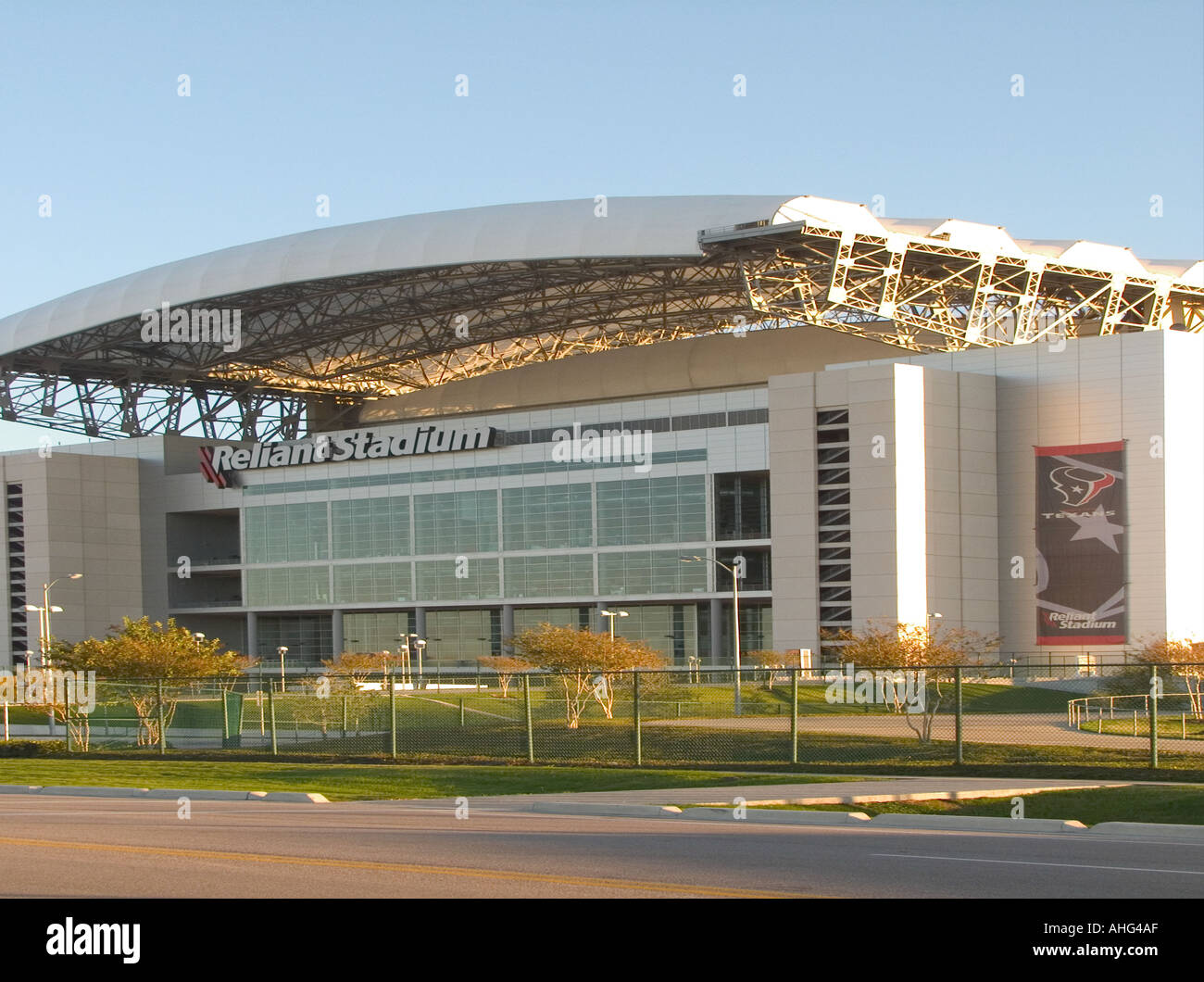 d3085bf8 Houston Texans Home Stadium, Reliant Stadium Sunny Texas Winter Day ...