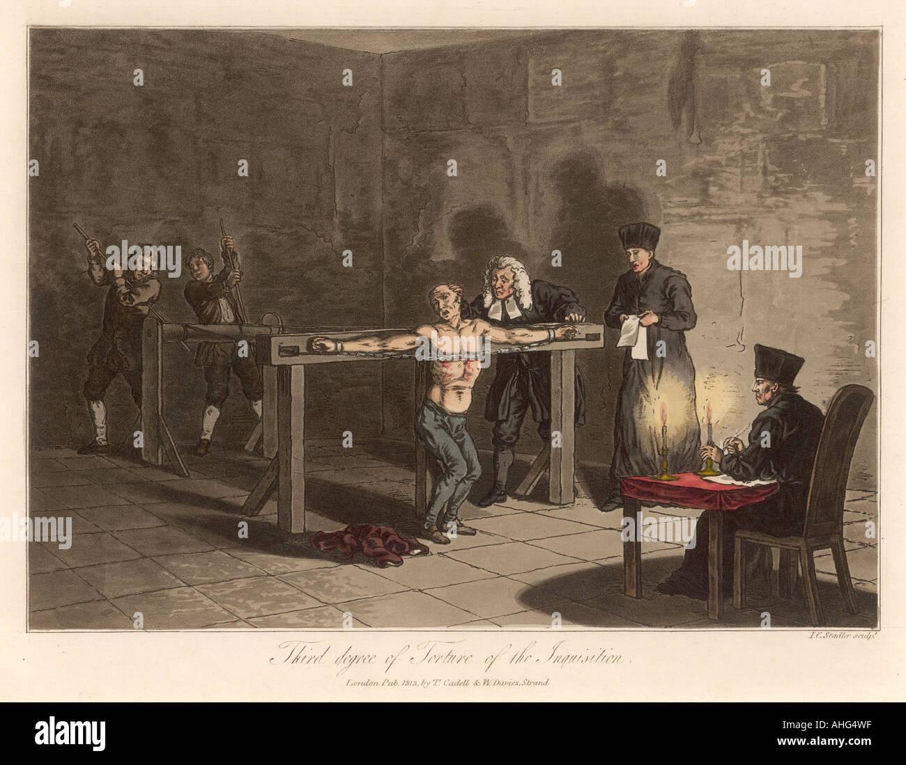 Inquisition Torture 3 - Stock Image