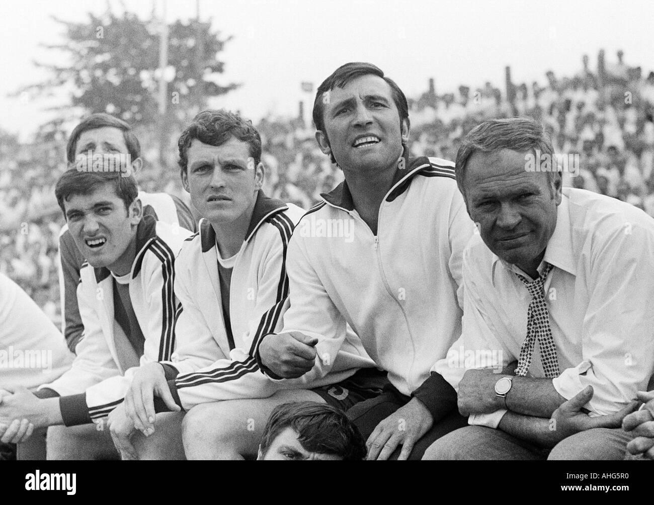 football, Regionalliga 1968/1969, promotion match to the Bundesliga 1969/1970, Rot-Weiss Oberhausen versus SV Alsenborn Stock Photo