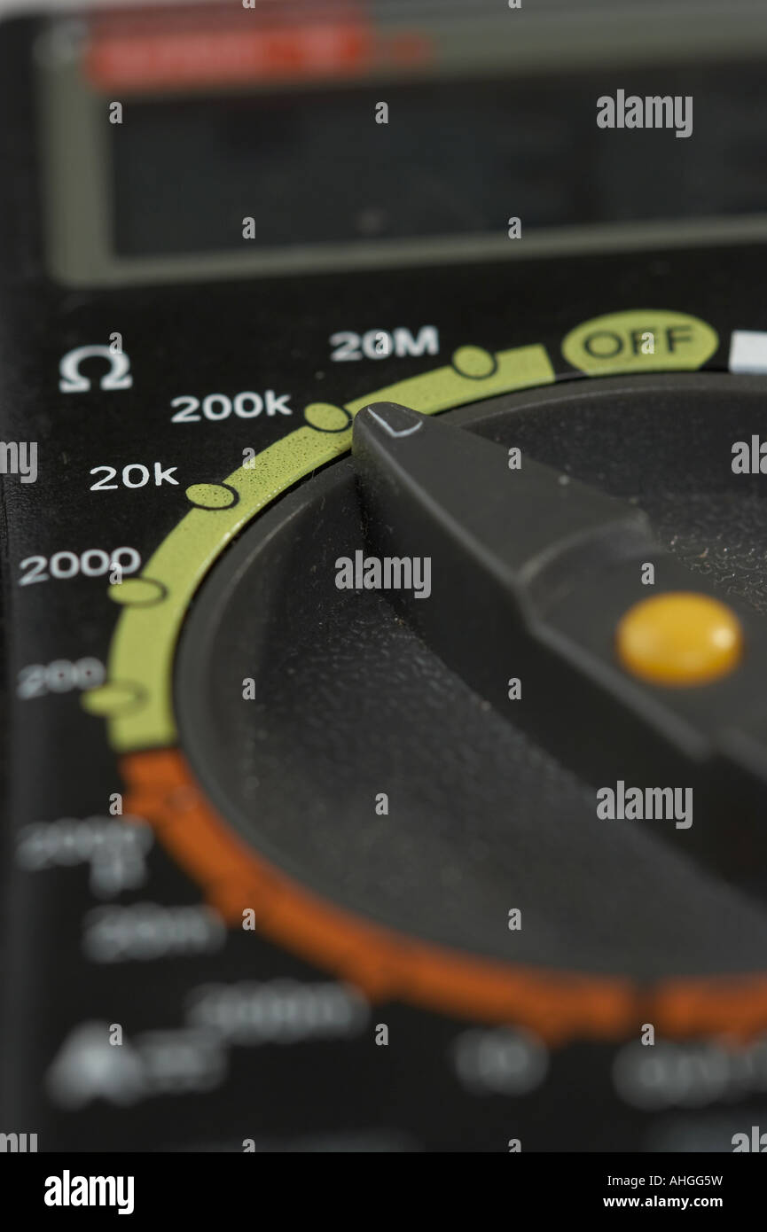 Ohmmeter Stock Photos Images Alamy Avo 8 Circuit Diagram Electronic Tester For Measurements Macro Image