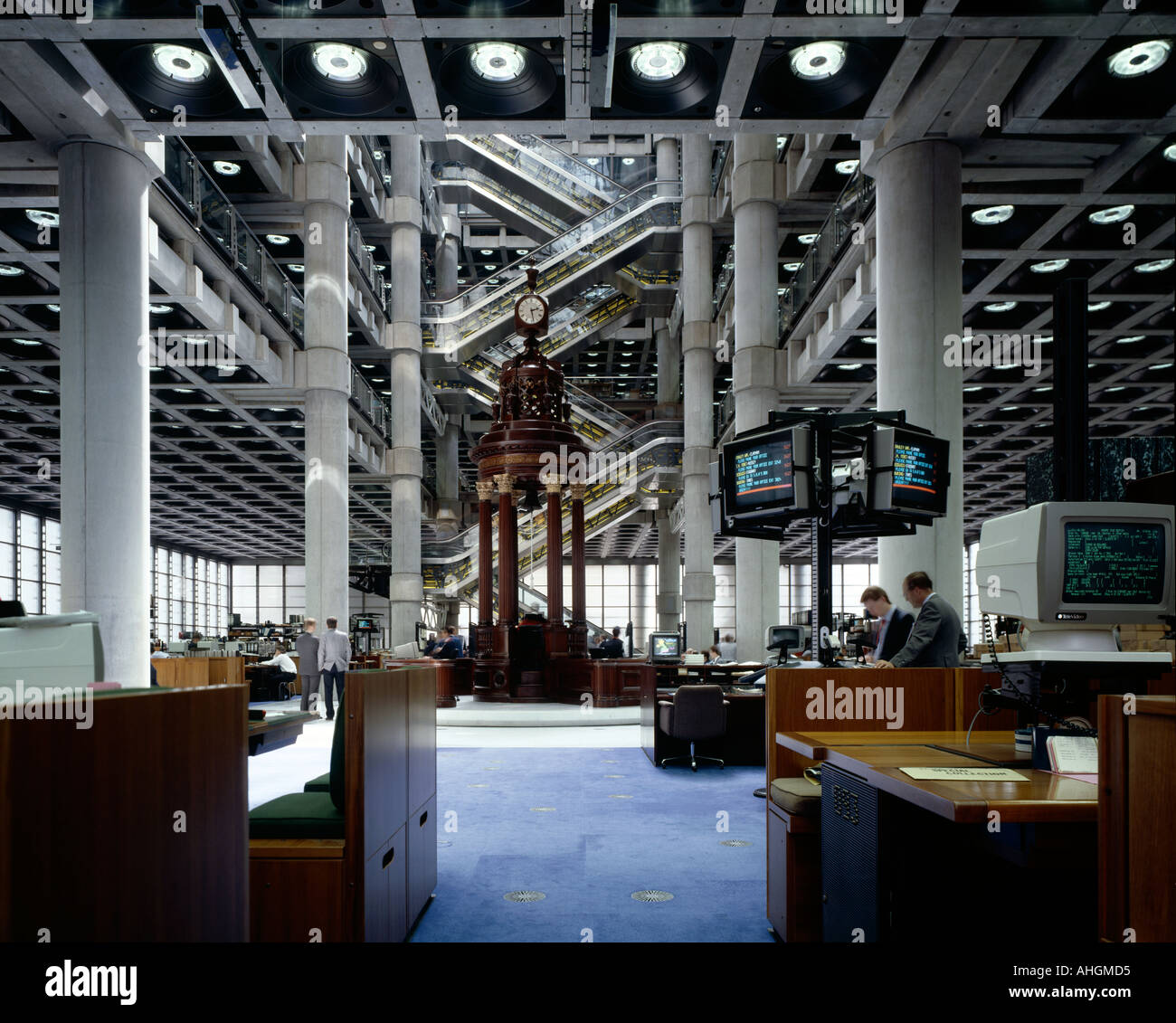 Lloyd's Building, City of London, 1986. Interior. Architect: Richard Rogers and