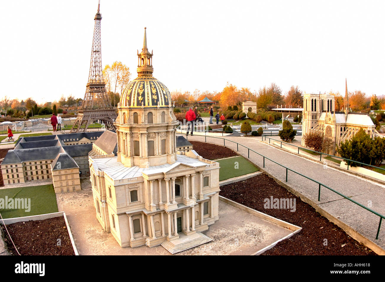 Elancourt, France, Theme Park 'France Miniature' Architectural Models, French Monuments, Paris - Stock Image