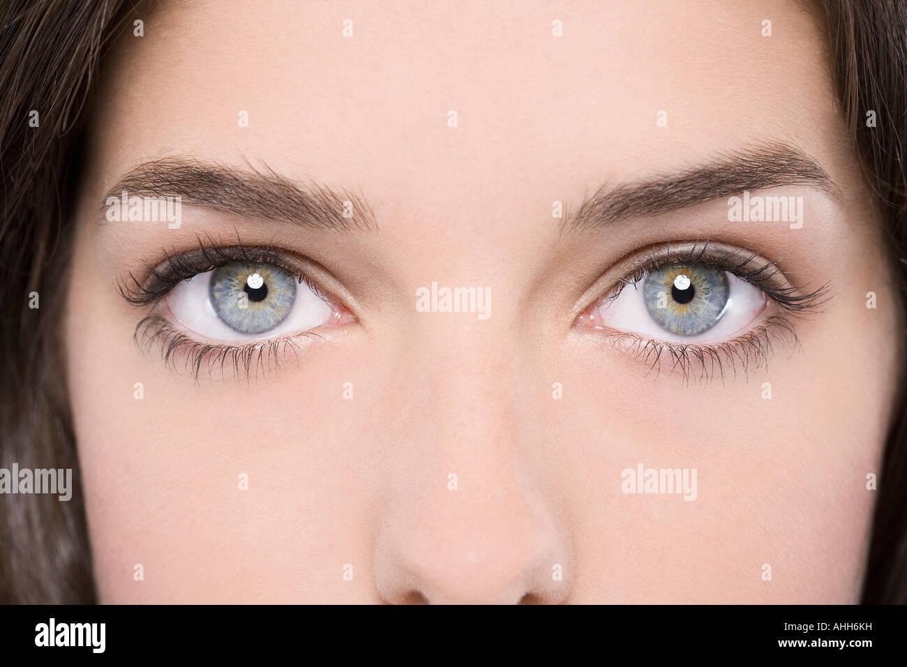 Close-Up of female eyes - Stock Image