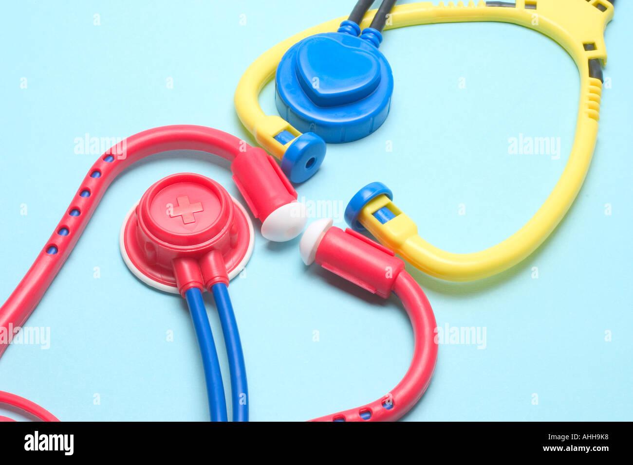 Toy Stethoscopes - Stock Image