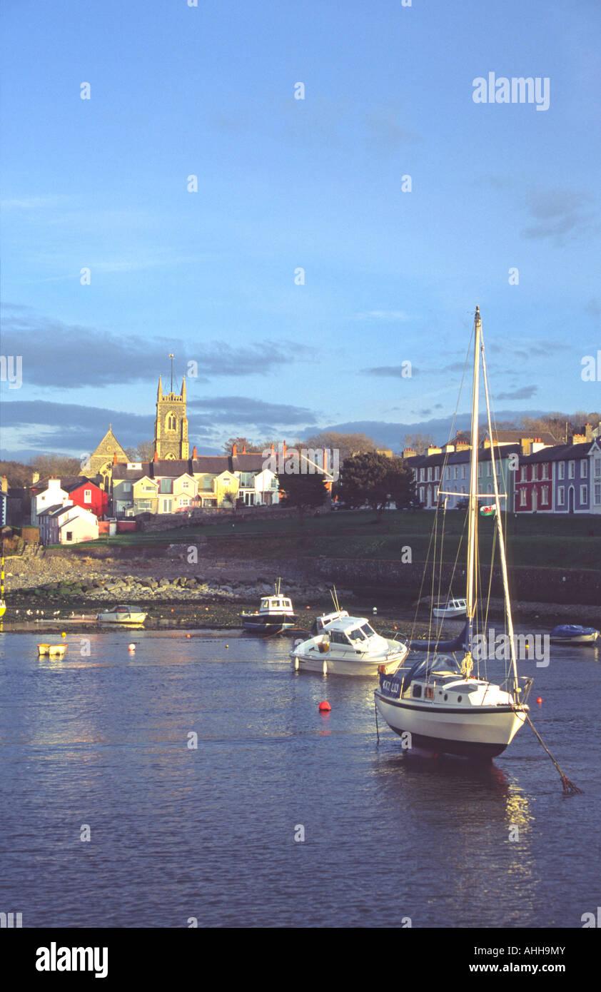 Aberaeron Harbour, Ceredigion, Wales - Stock Image