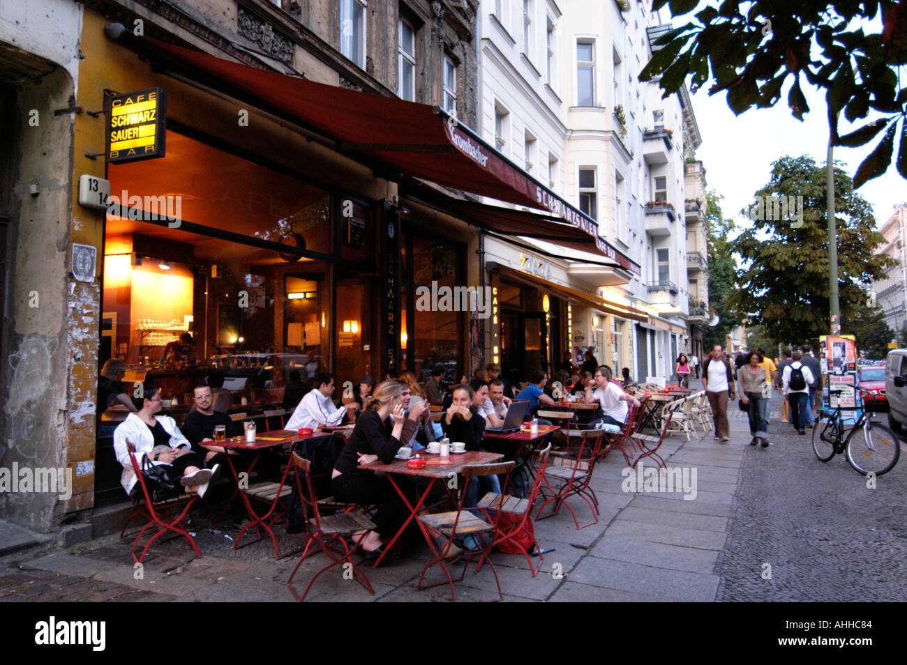 bar in the trendy prenzlauer berg area of berlin germany stock photo 2677891 alamy. Black Bedroom Furniture Sets. Home Design Ideas