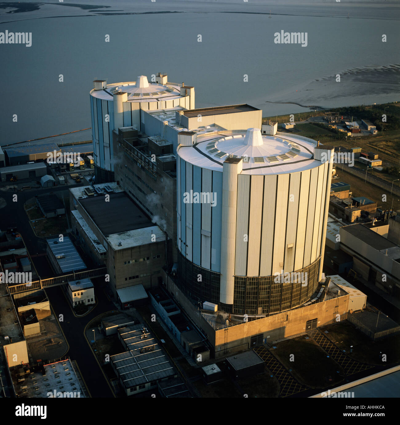 Oldbury Nuclear Power Station Severn Estuary UK aerial view - Stock Image