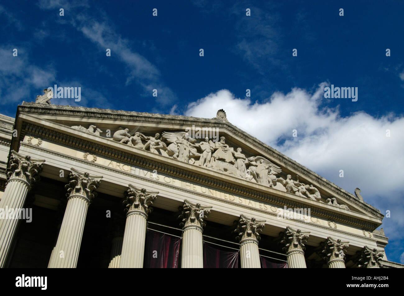 Archives of the United States of America, Washington DC USA - Stock Image