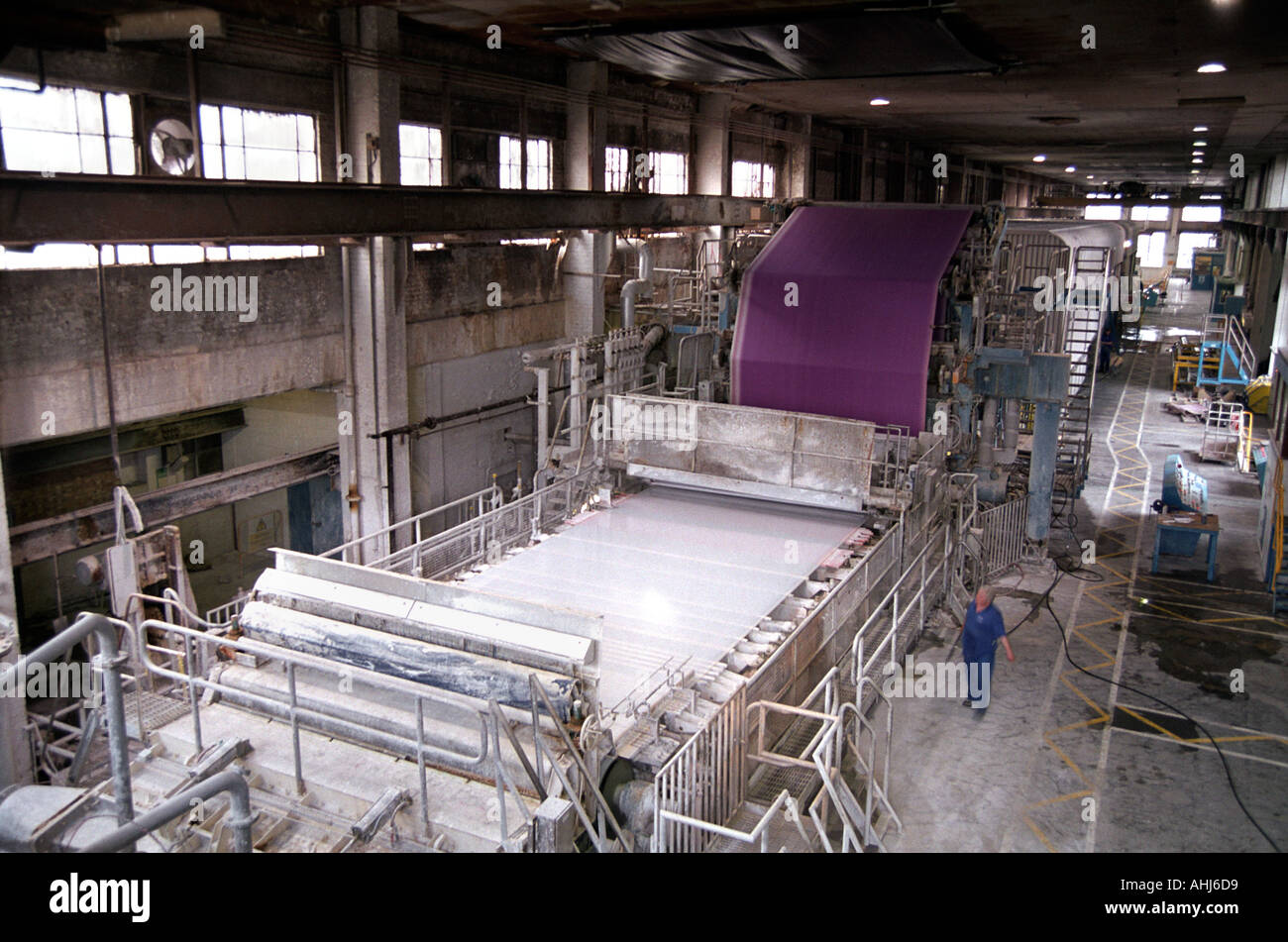 Paper manufacture at Smurfit paper factory Snodland, England