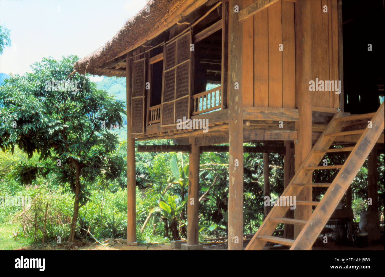 Nice Wooden House On Stilts Near Hanoi Vietnam