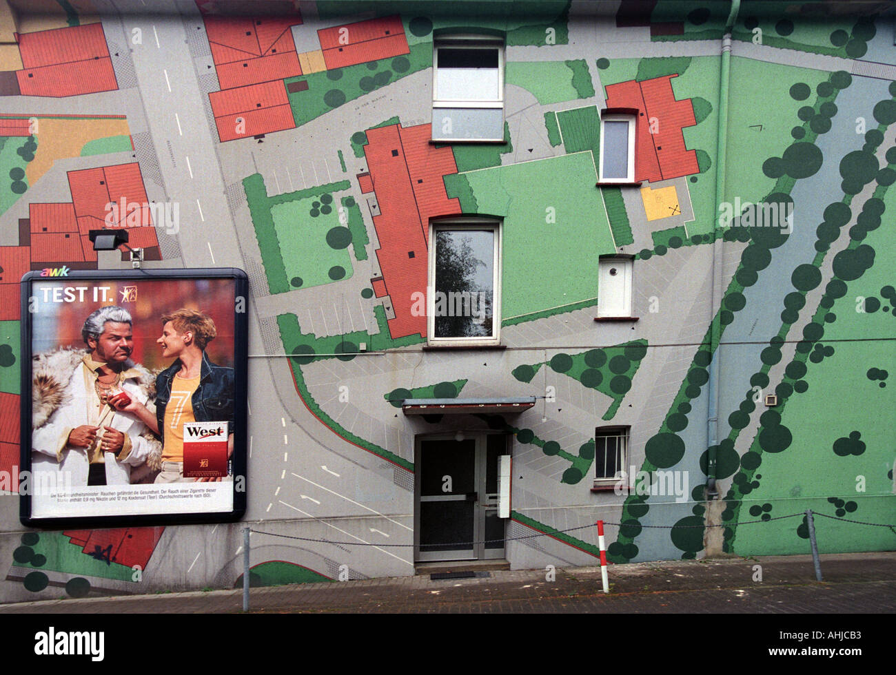 Cigarette advertising in Germany - Stock Image