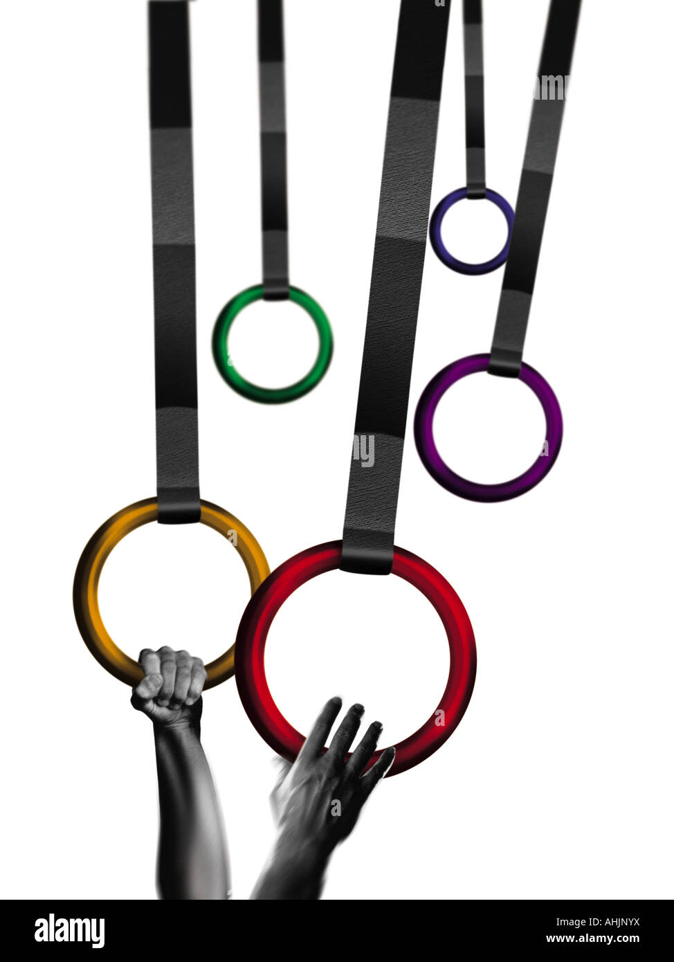Gymnast rings - Stock Image