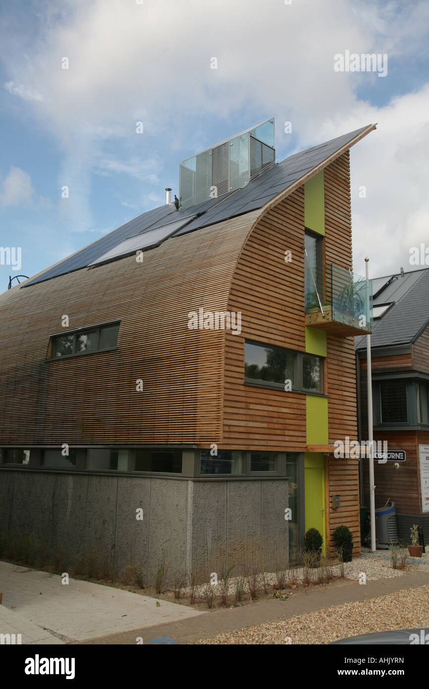 Kingspan eco house, UK's first zero emission home, Offsite exhibition Watford, UK - Stock Image