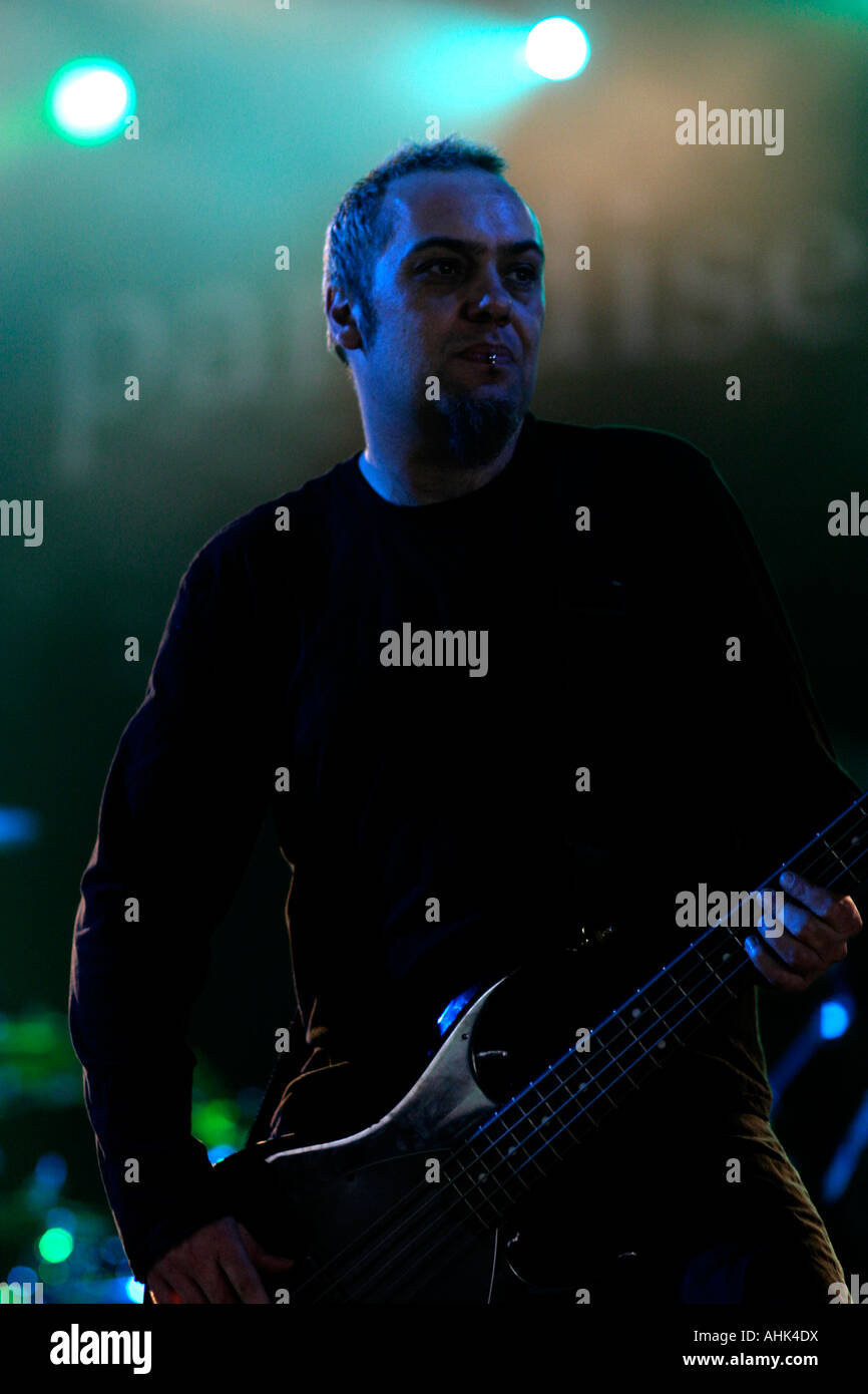 Steve Edmondson, bassist,  Paradise Lost Heavy Metal band, from Halifax in Yorkshire, rocker, musician, music, performer, - Stock Image
