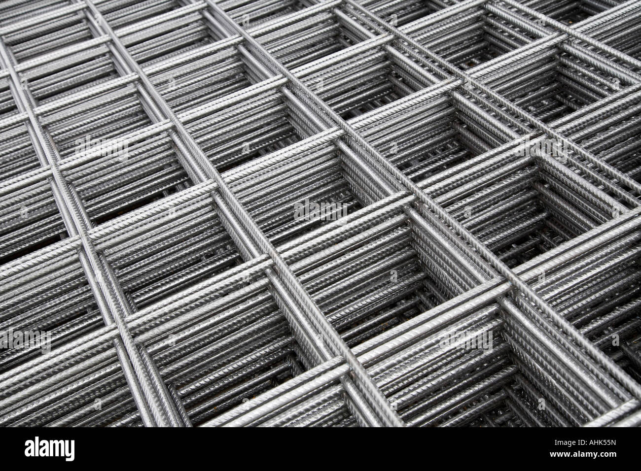 Wire re-inforcement sheets - Stock Image