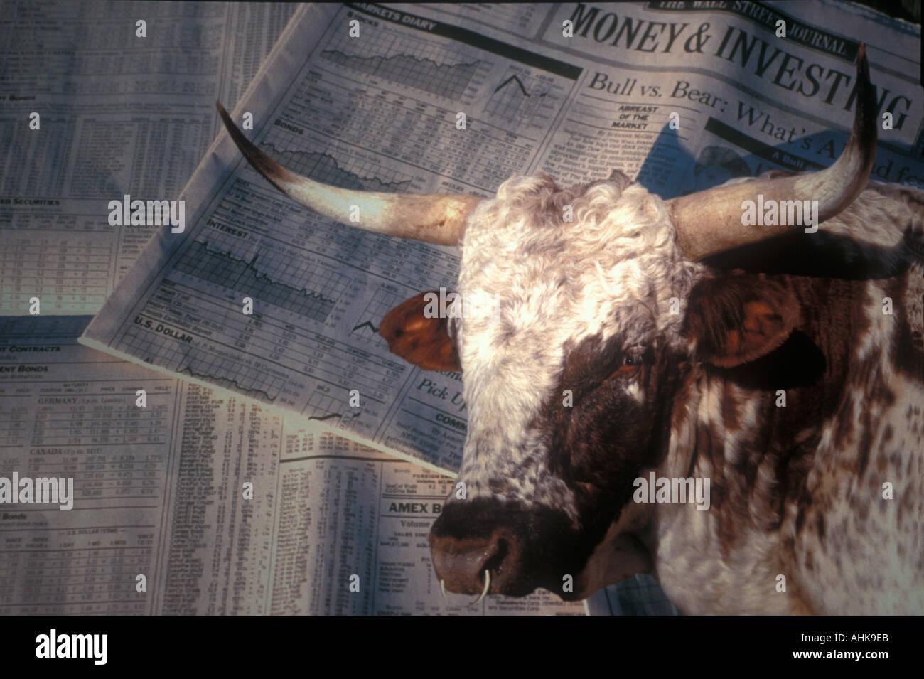Bull Stock Market or Bull Market Stock Photo