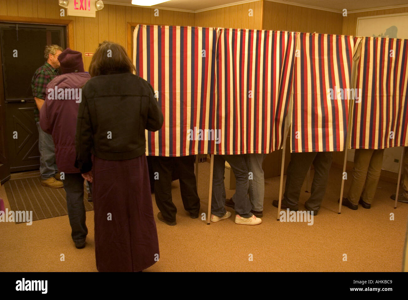 Small town elections Grand Isle VT - Stock Image