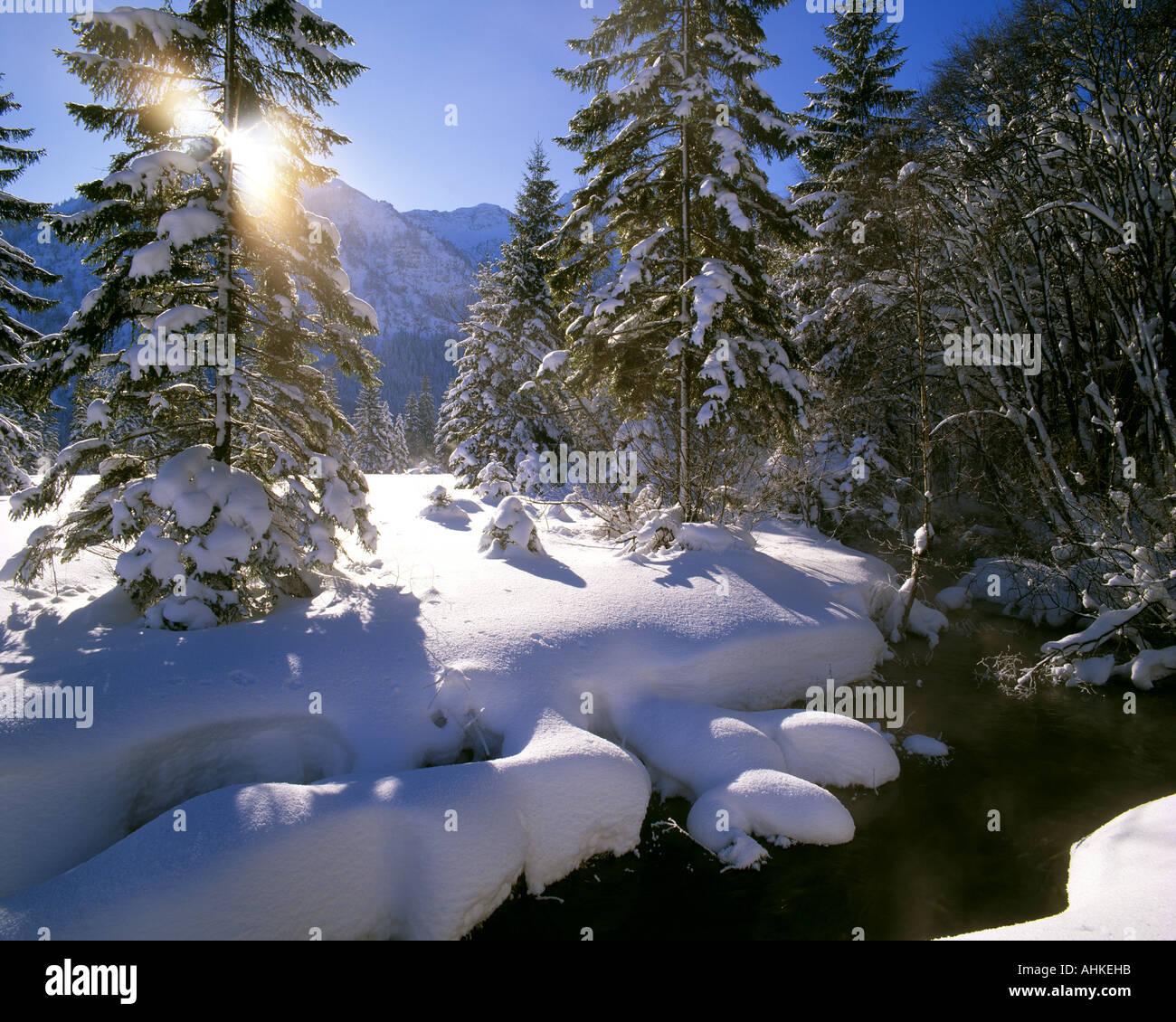 DE - BAVARIA:  Wintertime near Ettal - Stock Image