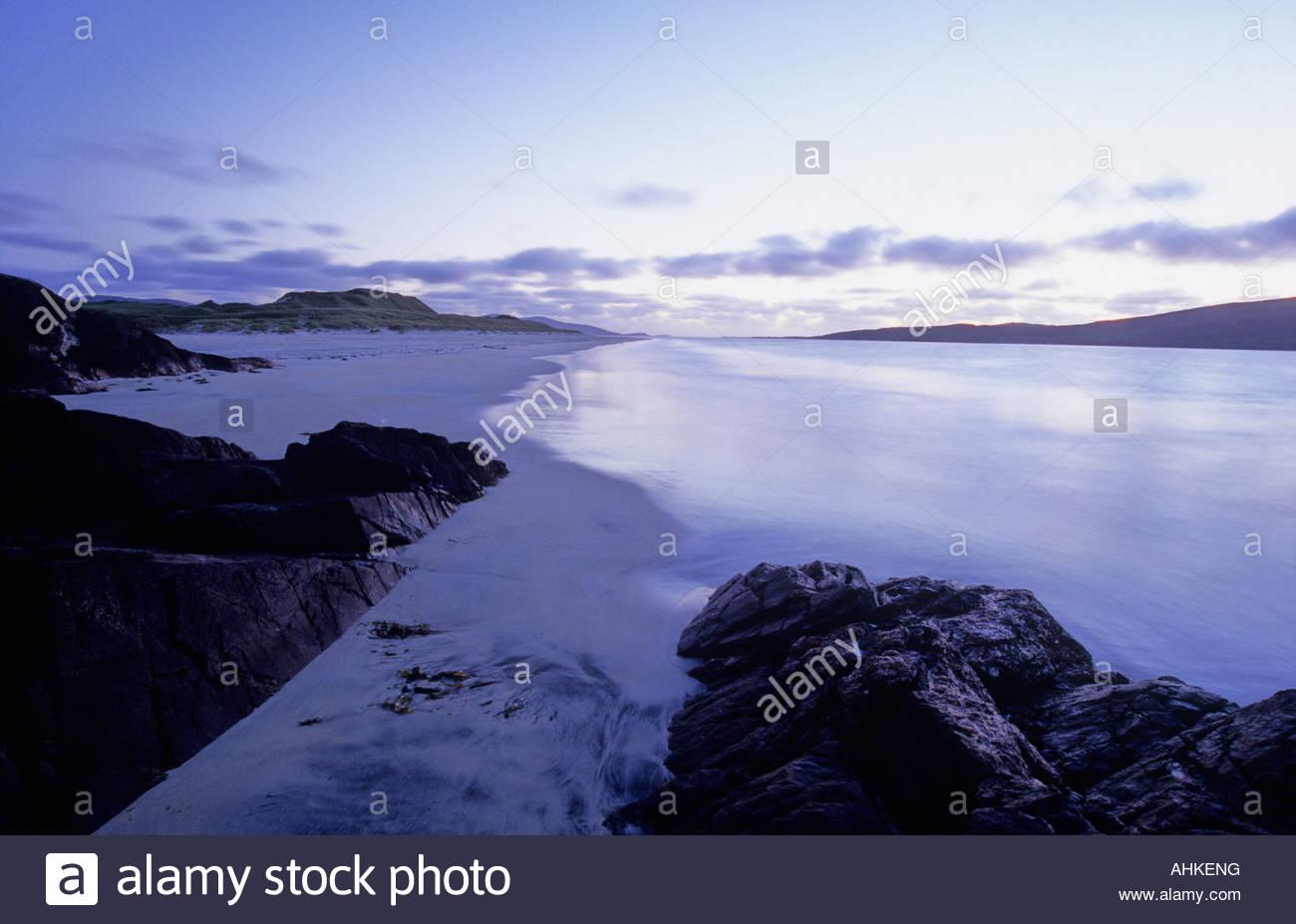 Luskentyre Beach on the Isle of Harris Scotland Stock Photo