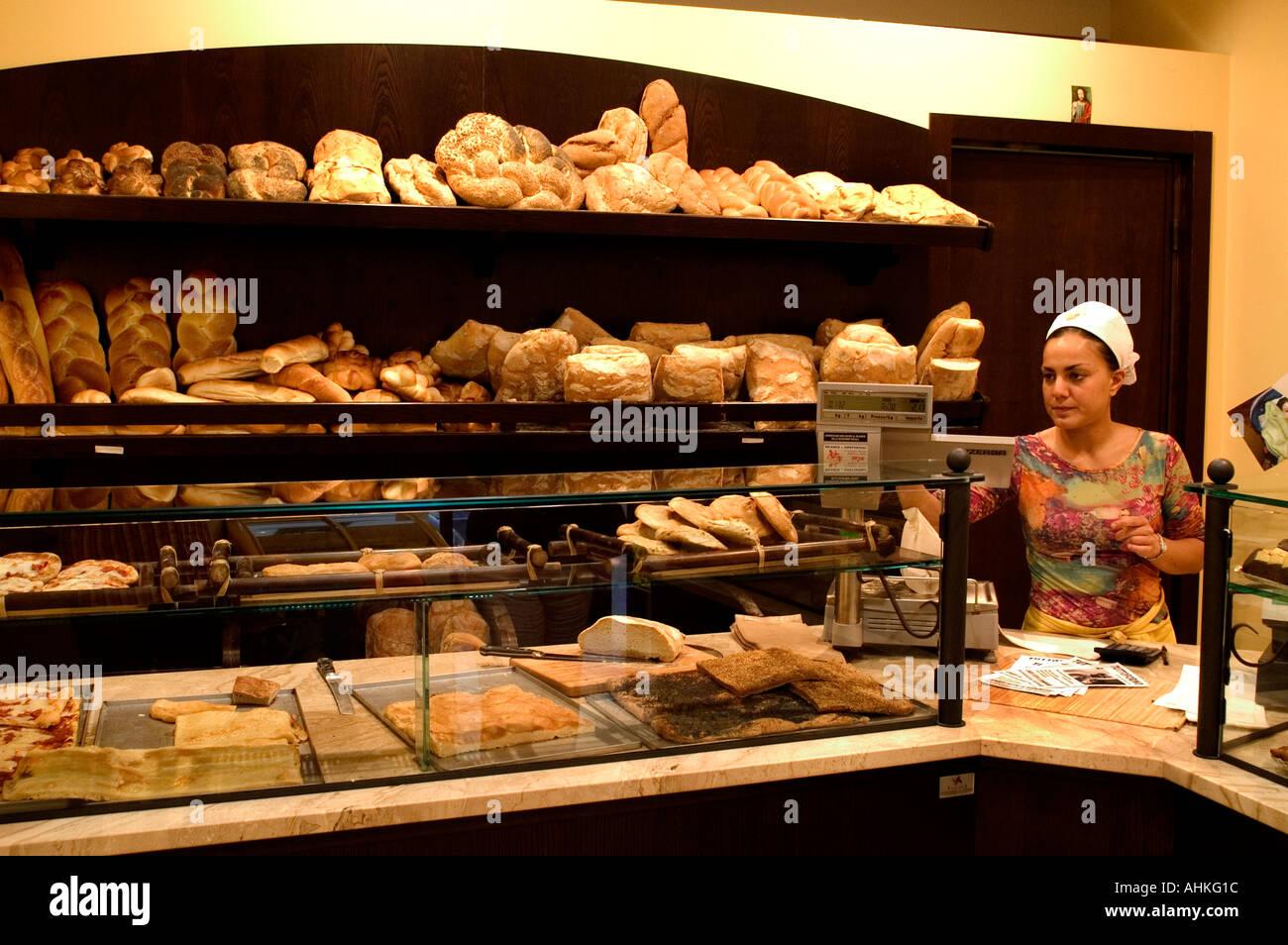 Italy Baker Bakery Bread Tuscany Bake House Italian Stock