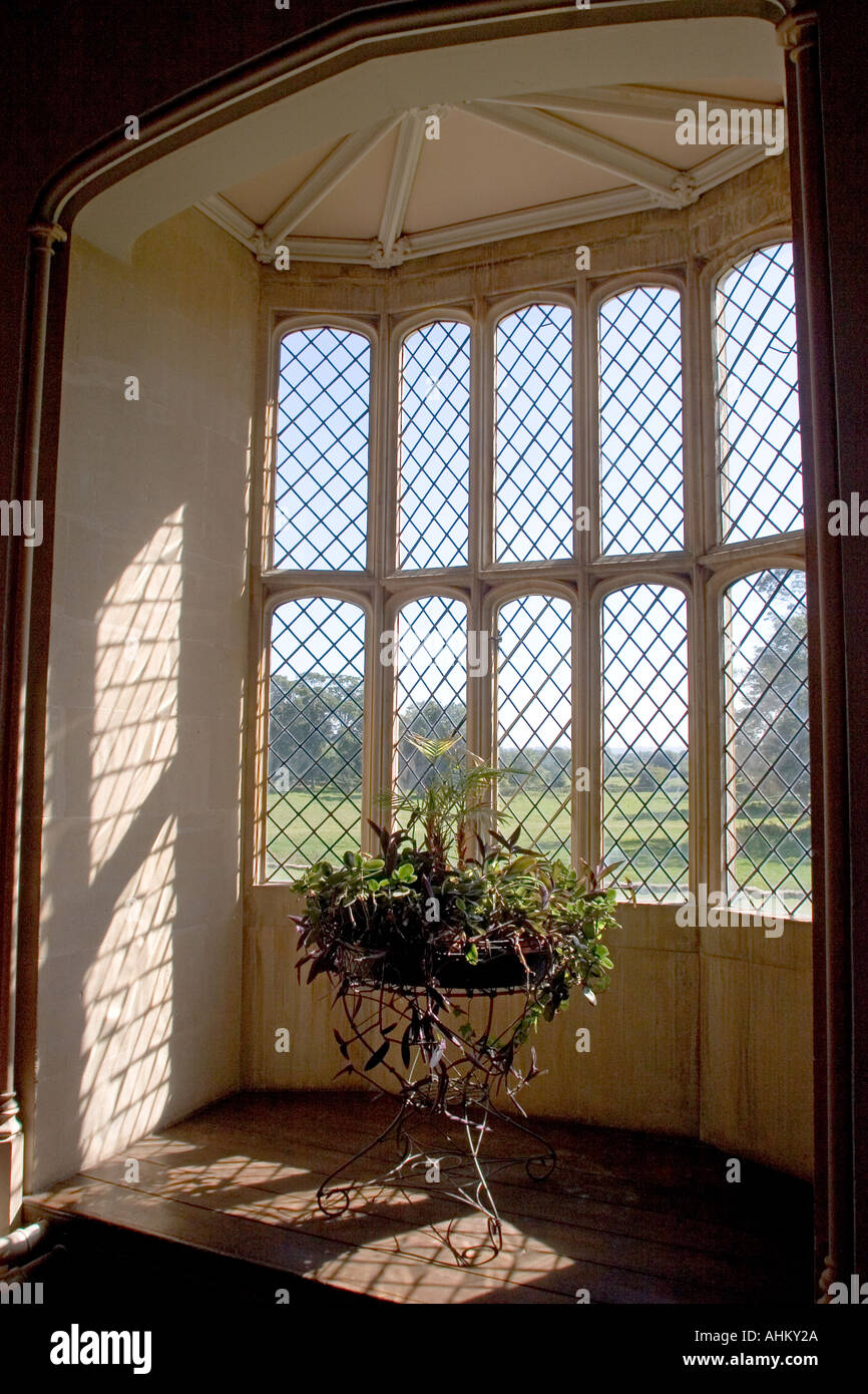 The oriel window at Laycock Abbey photographed by Henry Fox Talbot as the subject for the first known example of a photographic - Stock Image