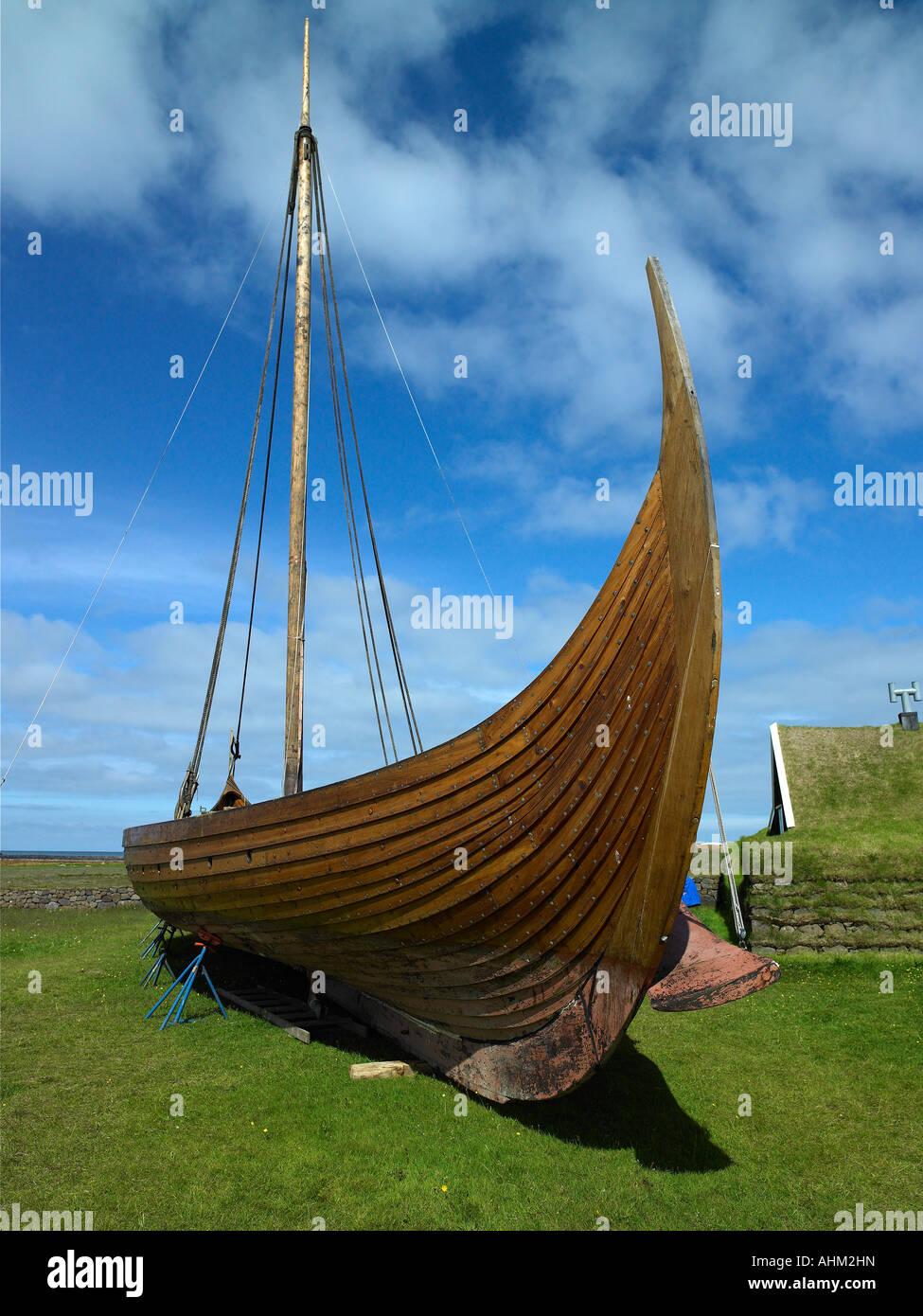 The Replica Viking Ship Islendingur, Iceland - Stock Image