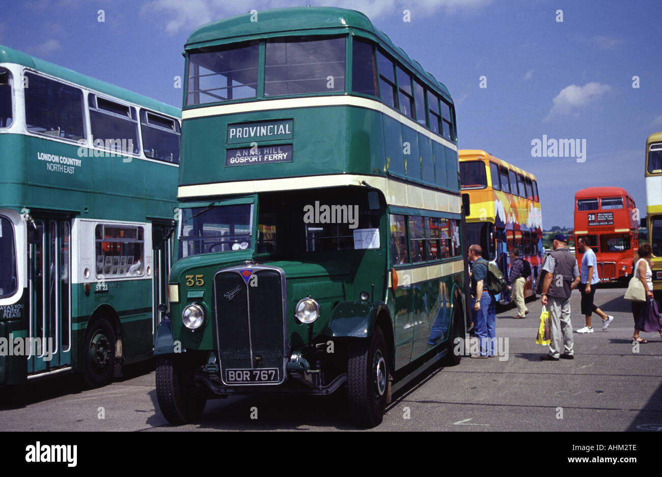 AEC Regent taken at the North Weald Bus and coach show - Stock Image